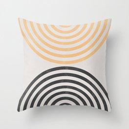 Mid Century Geometric Shapes Throw Pillow