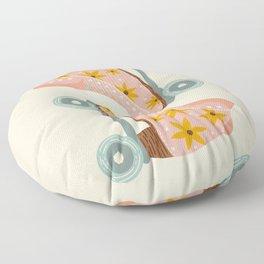 Retro Roller Skates – Blush & Mint Palette Floor Pillow