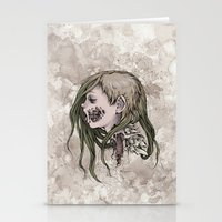 gore Stationery Cards featuring Gore Girl by Savannah Horrocks