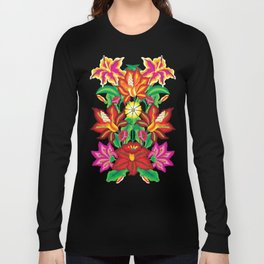 Mexican Exotic Flowers Long Sleeve T-shirt