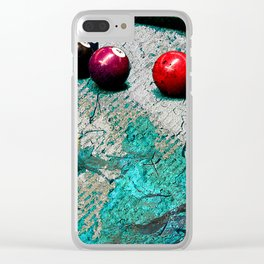 Modern Pool art and billiards artwork Clear iPhone Case