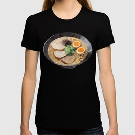 Japanese Tonkotsu Ramen Polygon Art T-shirt