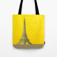 Tour De France Eiffel Tower Tote Bag