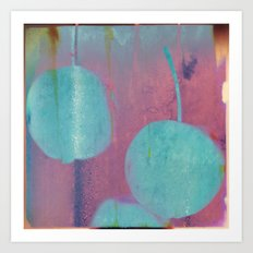 Blue Cherries Art Print