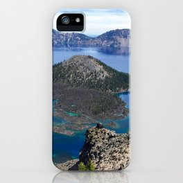 Wizard Island - Crater Lake National Park iPhone Case