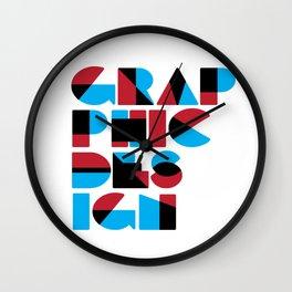 Graphic Design (Overprint Series) Wall Clock