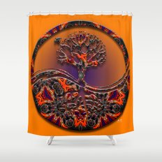 Tree Of Designs Shower Curtain