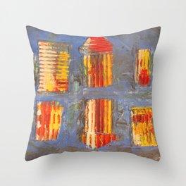 Colourful City Throw Pillow