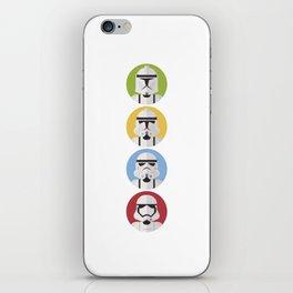 Stormtrooper evolution iPhone Skin