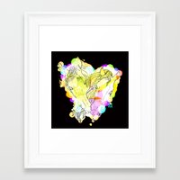 lovers Framed Art Prints featuring LOVERS by i am gao
