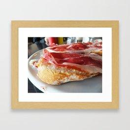 Pan con Jamon Framed Art Print