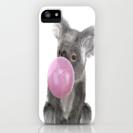 Bubble Gum - Koala iPhone Case