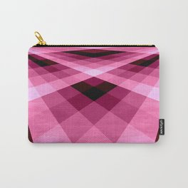 Magenta Burgundy Groovy Checkerboard Plaid Carry-All Pouch