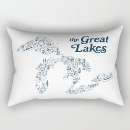 The Greatest Lakes Rectangular Pillow