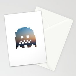 Pacman robot with clouds Stationery Cards