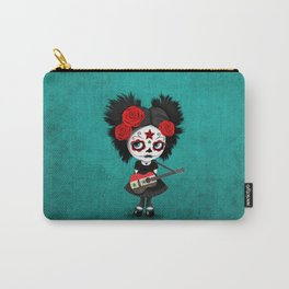 Day of the Dead Girl Playing Syrian Flag Guitar Carry-All Pouch
