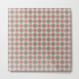 Coral Geometric Pattern # 5 Metal Print