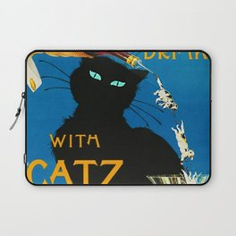 Mix Your Drinks with Catz (Cats) Bitters Aperitif Liquor Vintage Advertising Poster Laptop Sleeve