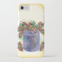 feathers iPhone & iPod Cases featuring Feathers by famenxt