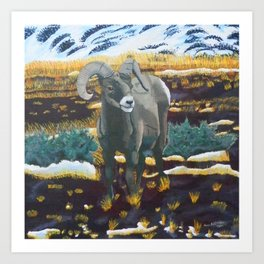 Behold the Ram Art Print