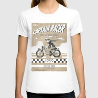 cafe racer T-shirts featuring CAPTIAN RACER by Morselli Mattia