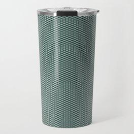 Dark Turquoise Seigaiha Travel Mug