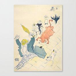 """Henri de Toulouse-Lautrec """"La Vache Enragée (The Mad Cow)"""" Canvas Print"""