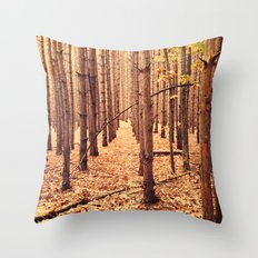 A Cathedral of Trees Throw Pillow