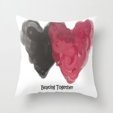 Beating Together Throw Pillow