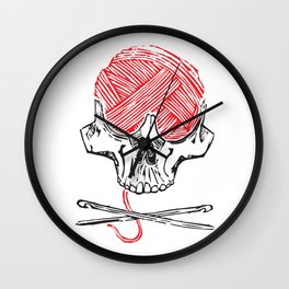 crochet badass Wall Clock
