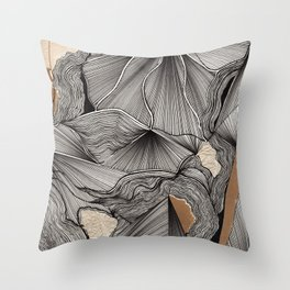Floral Waves (1.27) Throw Pillow