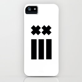 Ex and Stripes iPhone Case
