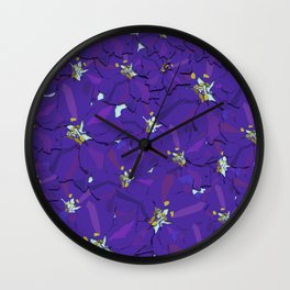 Larkspur Love Wall Clock