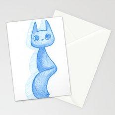 Blue Kitty Stationery Cards