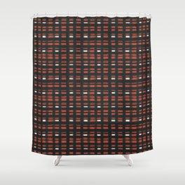 geo brush plaid Shower Curtain
