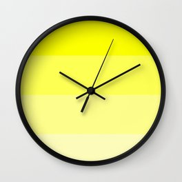 Yellow Ombre Coloured Wall Clock