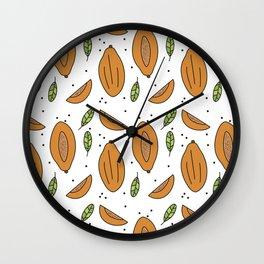 Papaya Wall Clock