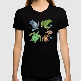 Sea Turtle Types T-shirt