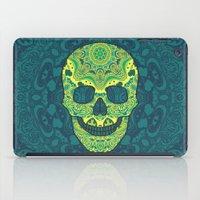sugar skull iPad Cases featuring Sugar skull by Julia Badeeva
