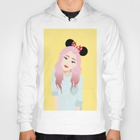 minnie Hoodies featuring Minnie Ears by lulu ramos