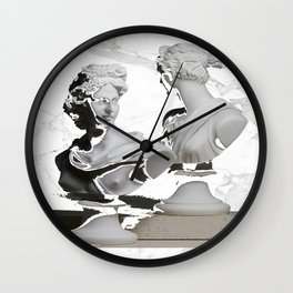 GREEK GODS WHITE MARB Wall Clock