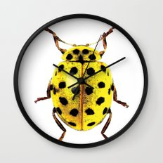 Insecte jaune et noir colors fashion Jacob's Paris Wall Clock