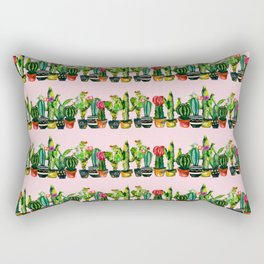 cactus stripes pink Rectangular Pillow