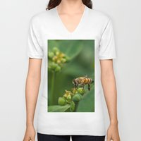 bees V-neck T-shirts featuring Bees by Gustavo Aragundi
