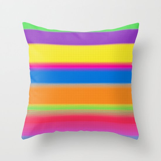 Candy Stripes. Throw Pillow