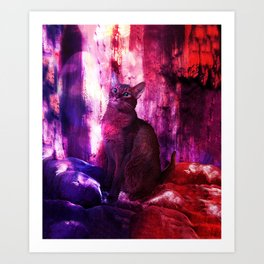 The Sunkissed Abyssinan Cat from Planet Kitarus Art Print