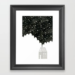 House in the Night Framed Art Print