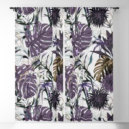 Collage Jungle Tropical Illustration Blackout Curtain