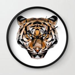 Low Poly Tiger Wall Clock