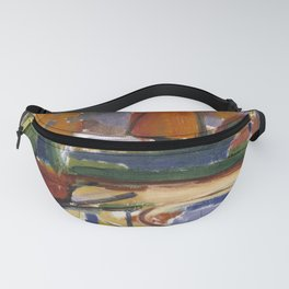Carl Newman - Landscape with Pond--Newman's Yard Fanny Pack